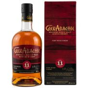 GlenAllachie 11 Jahre Ruby Port Wood Finish 48 %  0,,7 Liter