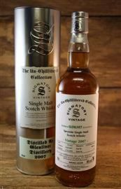 Glenlivet 2007/2018  10 Jahre 1st Fill Sherry Butt 46 %  Signatory Vintage The Un - Chillfiltered Collection 0,7 Liter