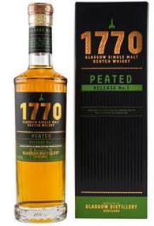 1770 Glasgow Single Malt Scotch Whisky Peated Release No.1  46 %   0,7 Liter