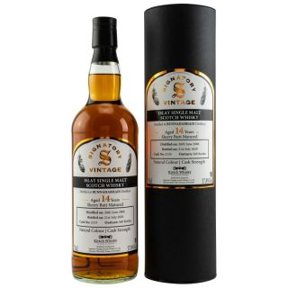 Bunnahabhain 2006/2020  14 Jahre Sherry Butt #2133  57,8% Signatory bottled for Kirsch Whisky 0,7 Liter