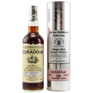 Edradour 10 Jahre Sherry Cask #398 46 % Signatory Vintage The Un - Chillfiltered Collection  0,7 Liter
