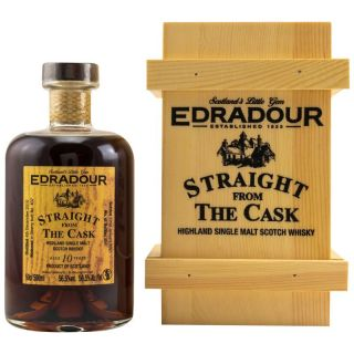 Edradour 10 Jahre Straight from the Cask Dark Sherry Butt No 407  56,5 % Signatory  0,5 Liter