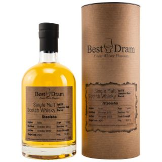 Staoisha 7 Jahre Islay Single Malt Scotch Whisky 1st Fill Jamaica Rum Barrel 56,9 %  Best Dram 0,7 Liter