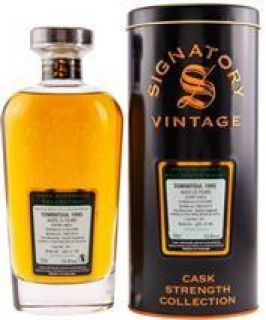 Tomintoul 1995/2019  23 Jahre Sherry Butt Finish Cask No 16/1  53,6% Signatory Vintage The Cask Strenght Collection 0,7 Liter