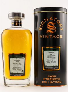 Tormore 1988/2019  30 Jahre Hogsheads 15601 + 15602  47,2 % Signatory Vintage The Cask Strenght Collection 0,7 Liter