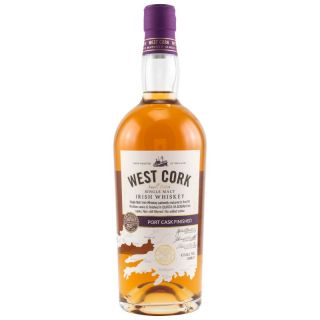 West Cork Irish Single Malt Whisky Port Cask Finish 43 % 0,7 Liter
